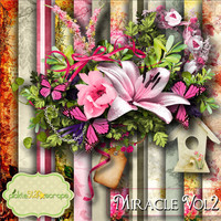 Miracle Vol2 - Digital Scrapbook Kit - Printable Backgrounds - 12x12 inch Papers - Alpha Included
