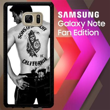 Paul Walker Sons Of Anarchy Tatto Z1499 Samsung Galaxy Note FE Fan Edition Case