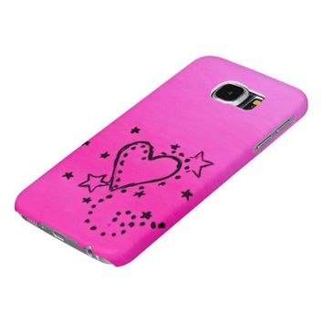 Pink Heart Doodle Samsung Galaxy S6 Case Samsung Galaxy S6 Cases