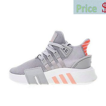Cheap Priced Mens Adidas EQT Basketball ADV Grey Coral Knit Athletic Shoes AC7351 sneaker