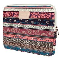 Plambag Bohemian Canvas Fabric 13-13.3 Inch Laptop Sleeve Notebook Case Envelope Bag for Notebook Computer / MacBook / MacBook Pro / MacBook Air Mystic Forest Style