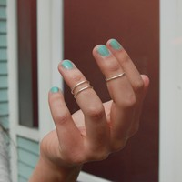 Silver Set of Three Stackable Knuckle Rings