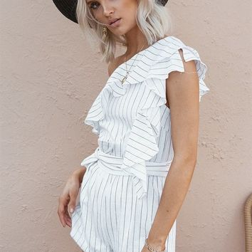 Harvey Stripe Playsuit - Playsuits by Sabo Skirt