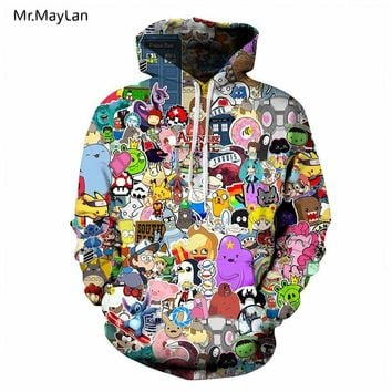 Hipster Cartoon Anime 3D Print  Tracksuit Men/Women Winter Jacket Hiphop Hoodies Sweatshirts Boys Coat Oversize ClothingKawaii Pokemon go  AT_89_9