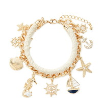 Nautical-Inspired Chain Bracelet | Forever 21 - 1000168646