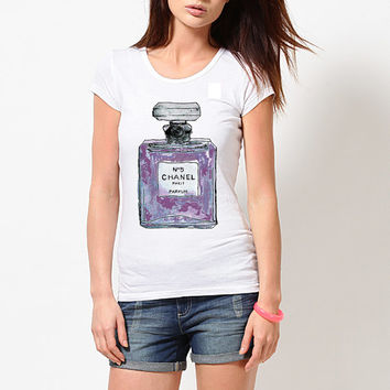 Chanel Perfume Inspired T-shirt; Violets (14-022)