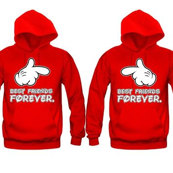 Best Friends Forever hands Girl BFFS Hoodies