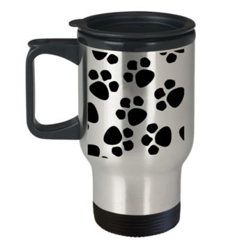 *Attention Cat Moms* Turn your Travel Mug into a Piece of Purrrfect Paw Art! Hint: Perfect Paw Pattern Cat Lover Gift