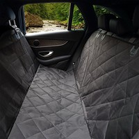 Glyby Pet Car Seat Cover for Dog - Car Backing Seat Cover for Trucks Suv's and Vehicles Seat Side Flaps - Quilted Waterproof Non Slip Hammock Convertible