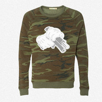 Ghetto Mickey Hands fleece crewneck sweatshirt