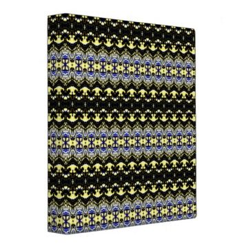 Unique abstract pattern 3 ring binder