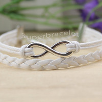 Karma infinity bracelet for friends - the ancient silver bracelet infinity bracelet, gift for boyfriend and girlfriend and BFF
