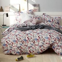 Cstudio Home Spring Floral Percale Duvet Cover Set / Sham–Sunset