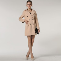 2015 Spring and Autumn big European and American high-high quality lapel breasted woman was thin wool coat jacket Specials = 1956605124