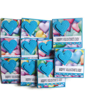Colorful Valentine Heart Cards Mini Valentine Note cards