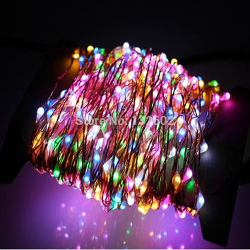 6 Colors 50M 165Ft 500 LEDs Copper Wire Warm White LED String Light Starry Lights Includes Power Adapter (UK US EU AU Plug)