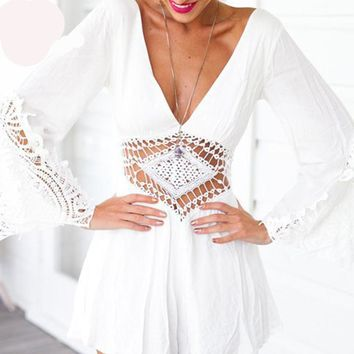 Boho Hollow Out Romper