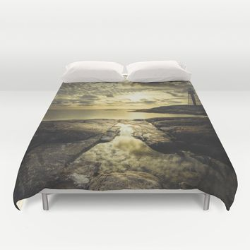 Good night sweet sun Duvet Cover by HappyMelvin