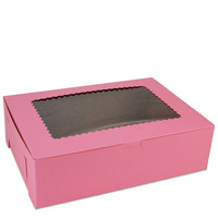 "Pink 14"" Window Bakery Box"