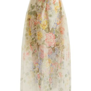 Floral-print silk skirt | Gucci | MATCHESFASHION.COM UK