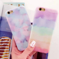 Misty clouds couple mobile phone case for iphone 5 5s SE 6 6s 6plus 6s plus + Nice gift box!