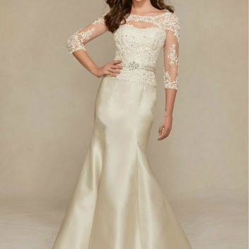 Half Sleeve Prom Dress,White Prom Dresses,Long Evening Dress