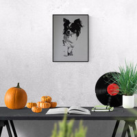 Dog Art: Chihuahua, original art, Hand made Pop Art illustration, hand-signed, unique piece, free dispatch,
