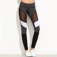 Block Autumn Winter Workout Pants