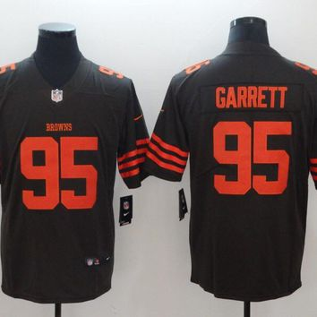 Cleveland Browns 95 Myles Garrett Color Rush Limited Jersey Brown