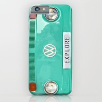 Explore wolkswagen. Summer dreams. Green iPhone & iPod Case by Guido Montañés