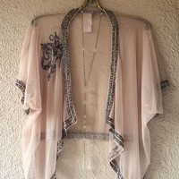Anthropologie CYRUS black lace tunic