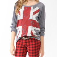 Distressed Union Jack Pullover