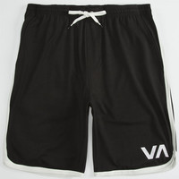 Rvca Va Sport Mens Shorts Black/White  In Sizes