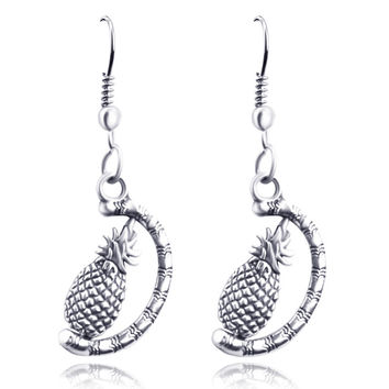 Stylish Strong Character Pineapple Earrings [6420302660]