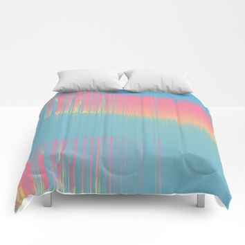 Cool Summer bckgrnd Comforters by DuckyB