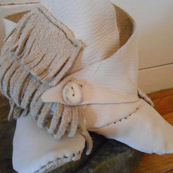 Custom Made to Order Viking Style Leather Shoes/Moccasins With Fringe, Renaissance Fair, Festival, Elf, Fairy, Woodland, Reenactment