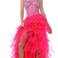 SHORT N LONG PROM DRESS FORMAL EVENING SEXY SWEET 16 PARTY PAGEANT GOWN HIGH LOW