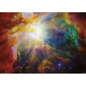 Imagination Nebula Quotation Giant Poster 55x39 - Walmart.com