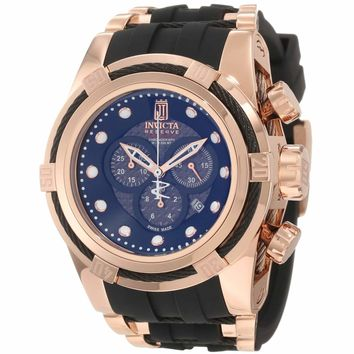 Invicta 12956 Limited Edition Men's Jason Taylor Bolt Zeus Reserve Black Dial Rose Gold Tone Steel Chronograph Dive Watch