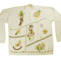 Brown, Green And Gold on this Ugly Christmas Sweater | ugly sweater