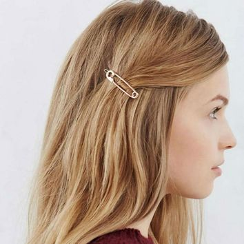 Korean accesorios para el pelo Metal Pin Hair Clip Girls Vintage Gold Hairpin Princess Women Hair Accessories  Wedding Headband