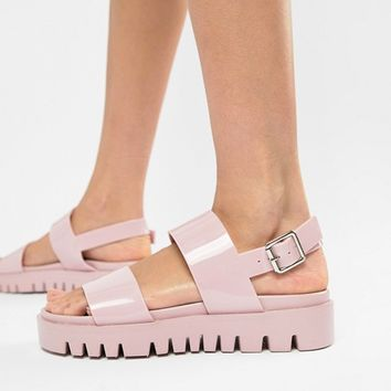 0cd4b235ea9 ASOS DESIGN Fadey chunky jelly flat sandals at asos.com