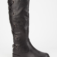 Adriana Alicia Womens Riding Boots Black  In Sizes
