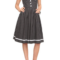 Black And White Polka Dot Dress | Hot Topic
