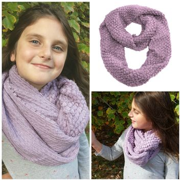 Cookie's Popcorn Knit Infinity Scarf- 2 Colors