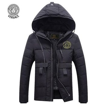 Versace Fashion Down Cardigan Jacket Coat Hoodie-3