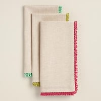 Chambray Crochet Napkins Set of 4