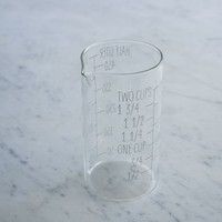 Labeled Kitchen Glass Beaker