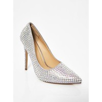 Platinum Supreme Bling Queen Heels
