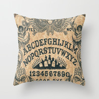 Ouija Board Throw Pillow by Amaman